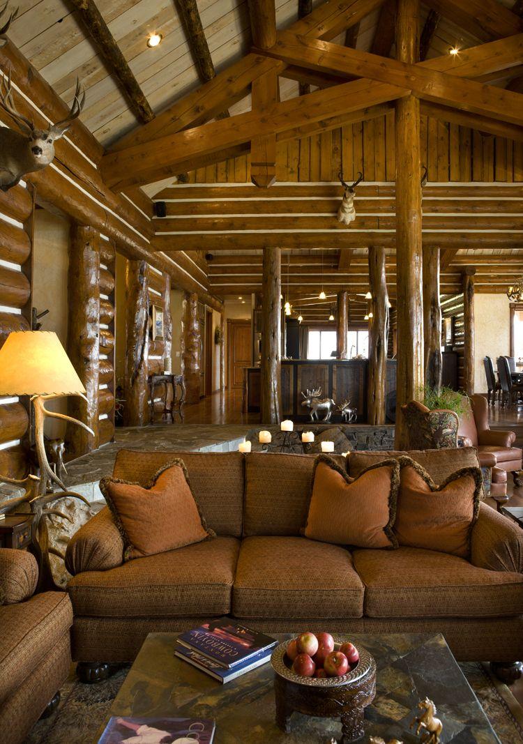 Living Interior 33 | Living | Pinterest | Interiors, Cabin and Logs