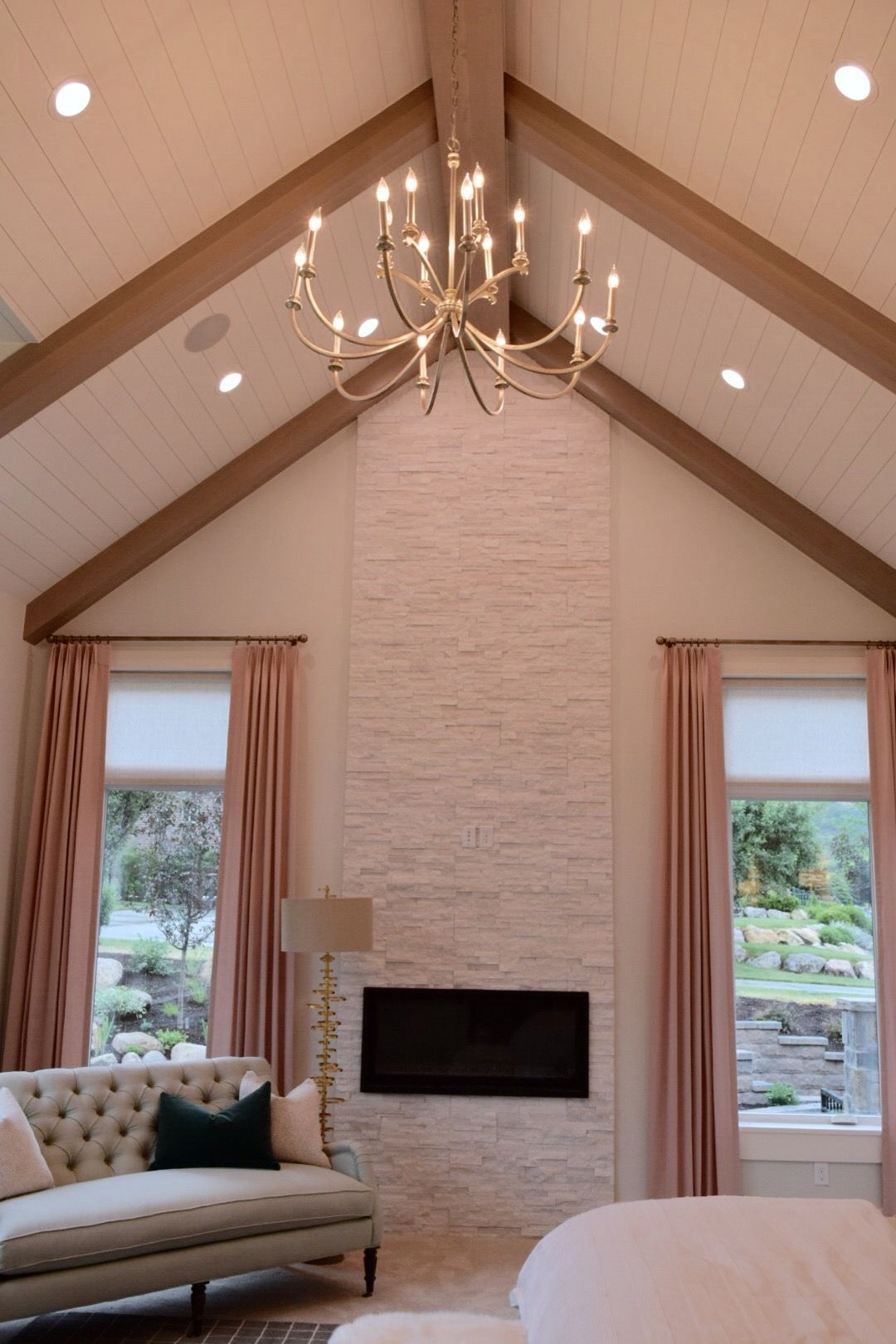 master bedroom fireplace to ceiling fireplace pinterest