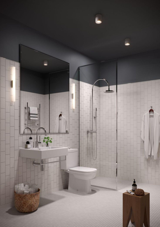 Salle De Bain Saumon idées peinture plafond | remodelage de petite salle de bain