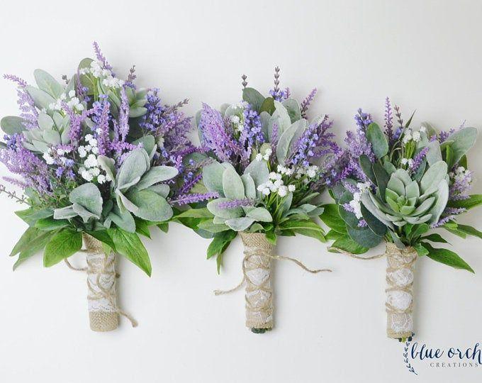 Wedding bouquet, wedding flowers, boho bouquet, bridal bouquet, wildflower bouquet, lavender bouquet, rustic bouquet, purple, ivory, country #whitebridalbouquets