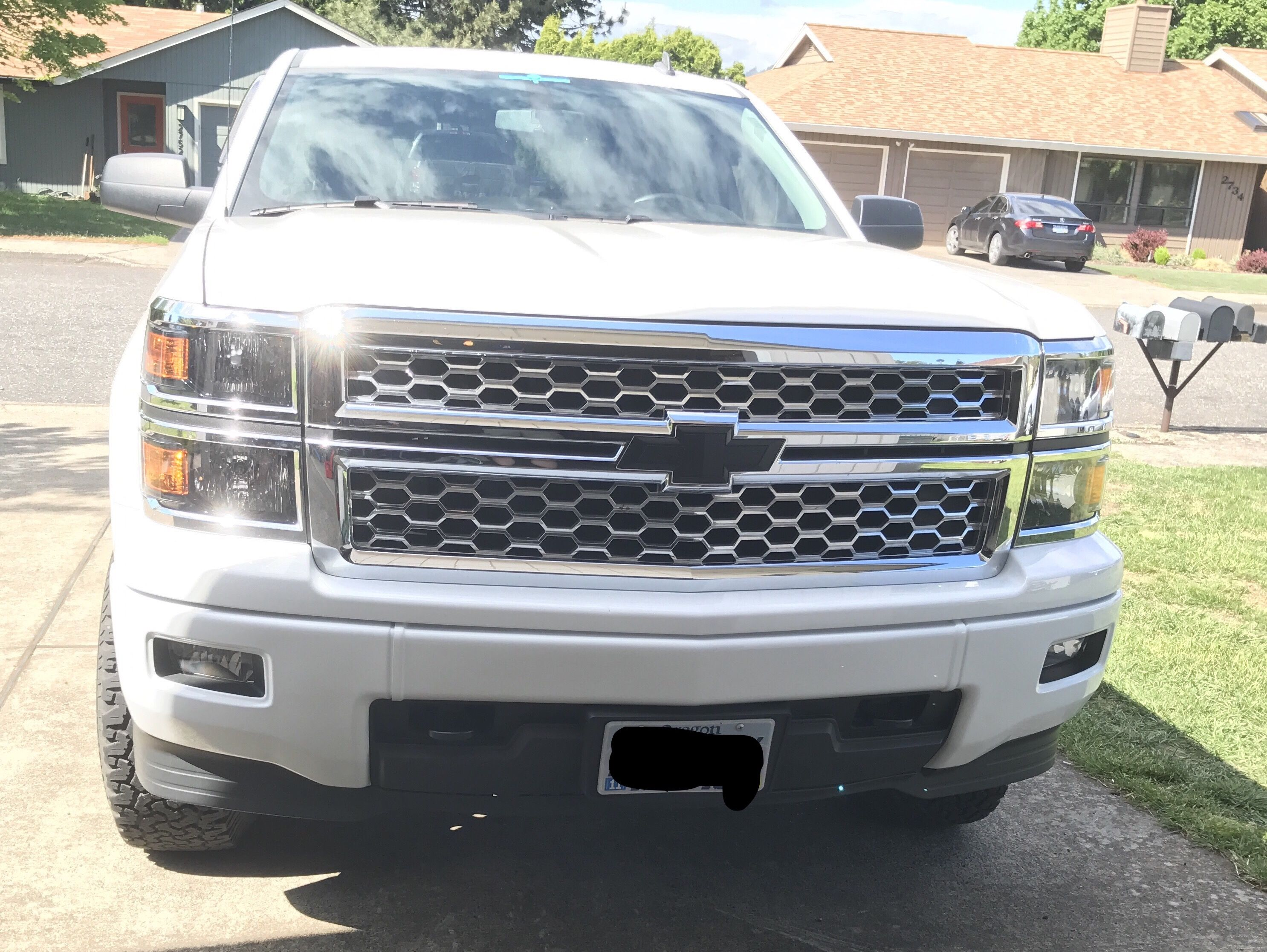 Covered the chrome bumpers with covers 2014 chevy, Chevy