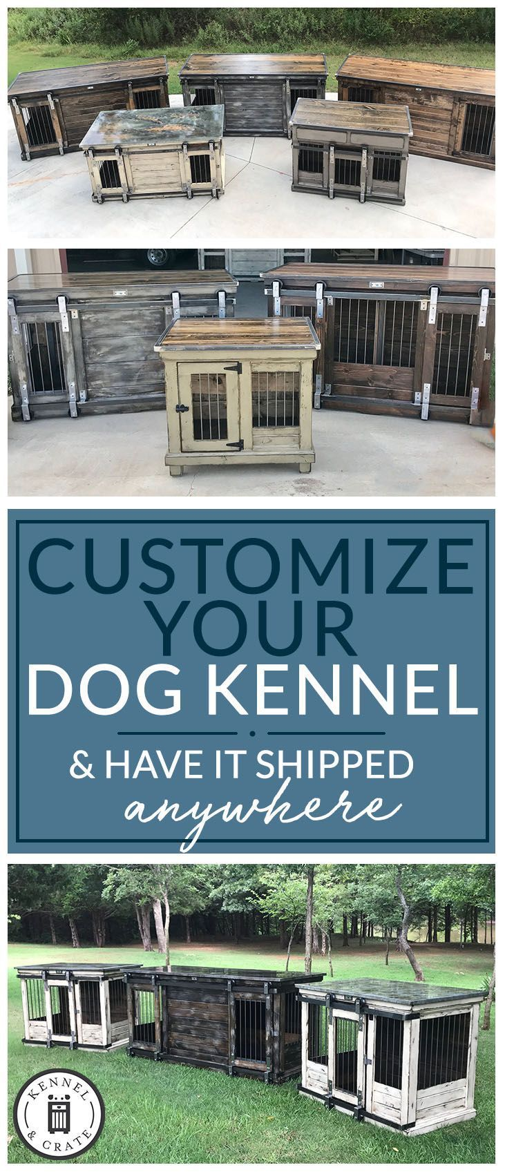 We create furniture for your dog(s); our crates double as entry tables, kitchen islands, coffee bars, credenzas, buffet tables, desks, dressers, night stands, end tables, & entertainment pieces.  #Kennelandcrate  #Customorders #Stylishdogkennel #dogkennel