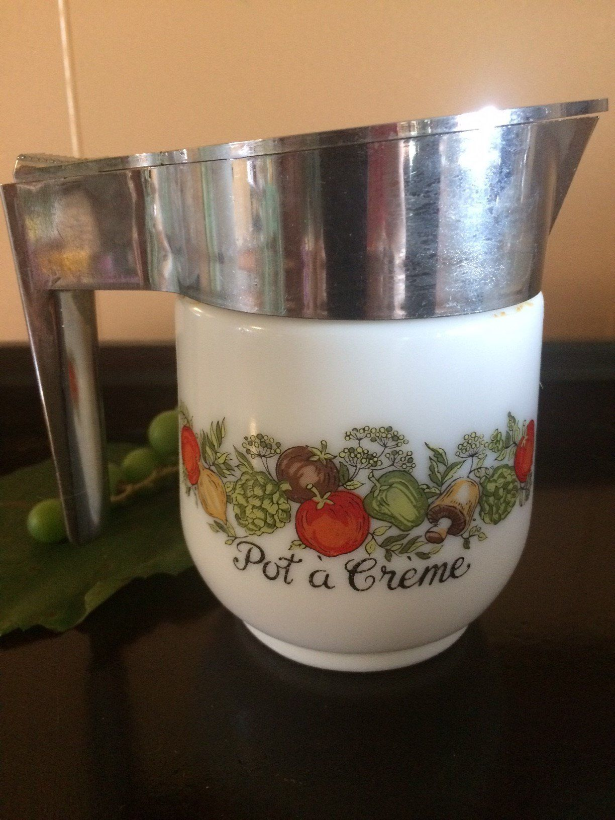 Vintage Gemco Spice of life creamer Corning ware Pyrex