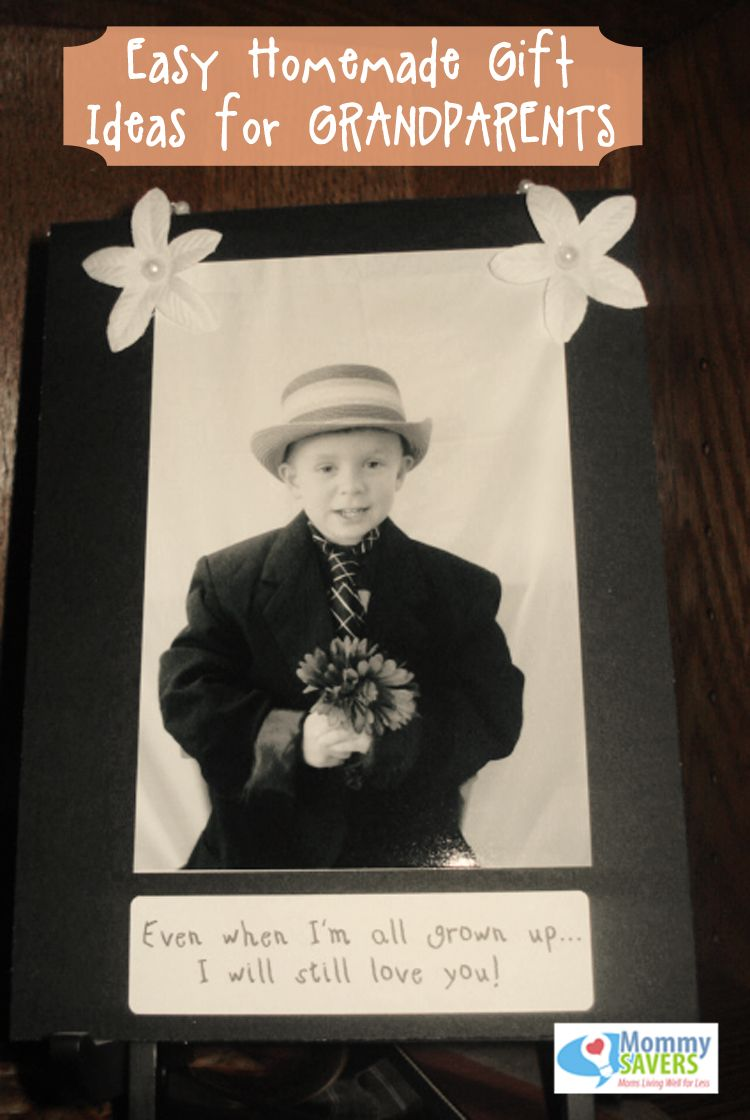Ten Frugal Homemade Gifts for Grandparents | Photo crafts ...
