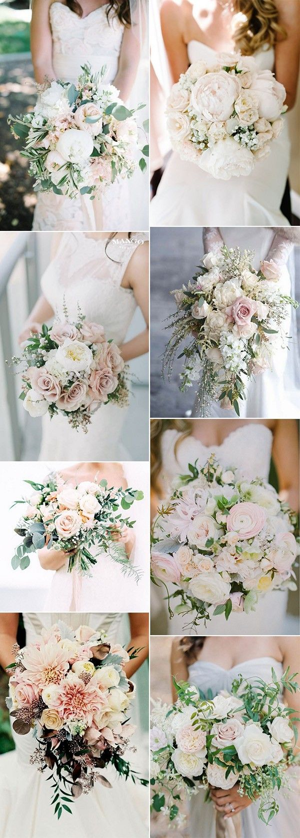 Top  Blush Pink Wedding Bouquets for Spring   Blush pink