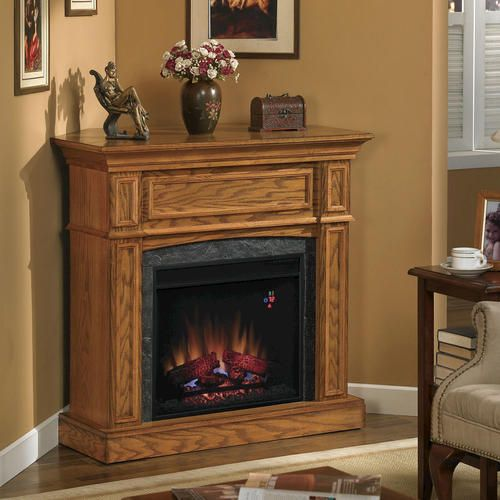 Electric Fireplace Insert Menards: Thompson Electric Fireplace Set With Corner Extension At