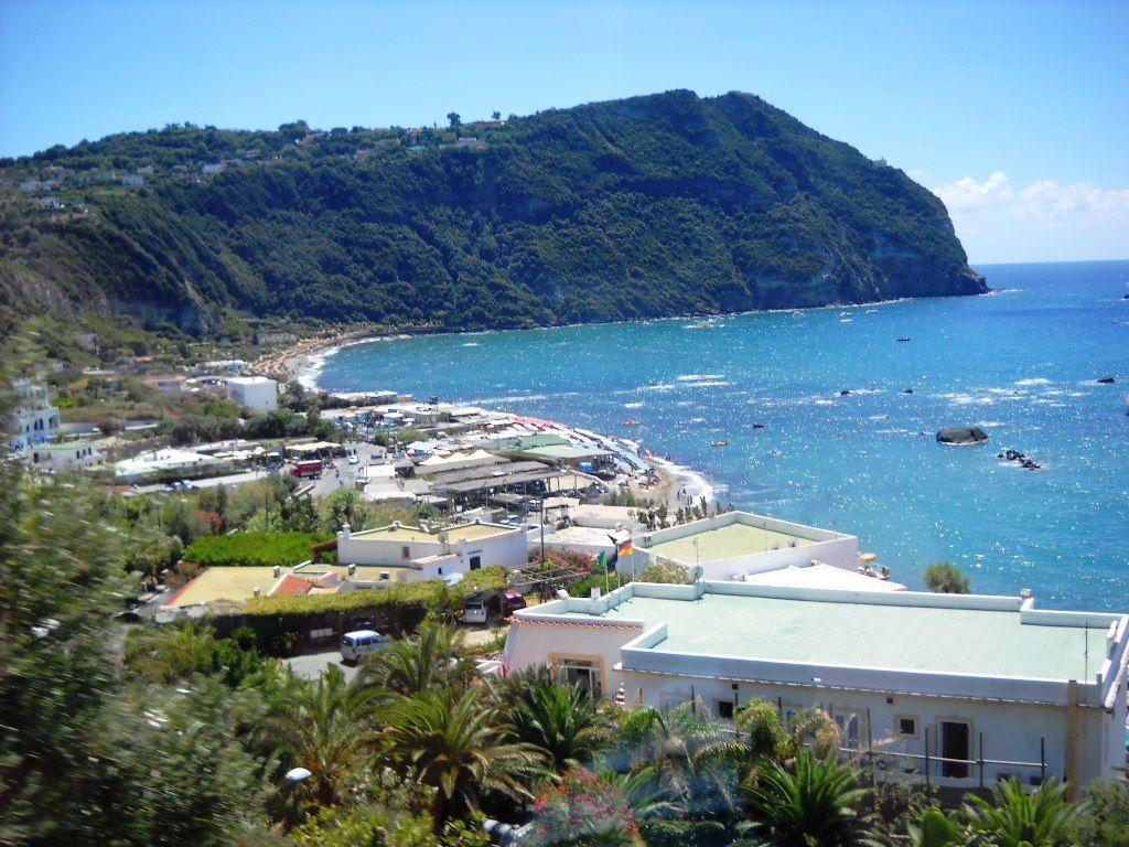 Pláž Citara Forio ostrov Ischia Itálie Pláž