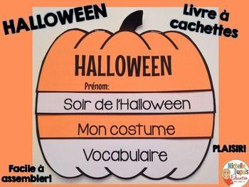 Halloween Livre A Cachettes French Halloween Flip Book