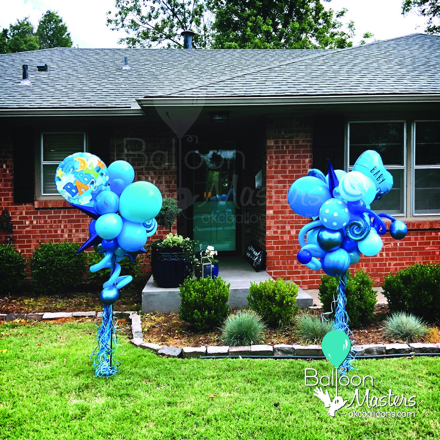 Balloon Celebration Yard Stake Baby Boy Balloons Yard Art Baby Boy