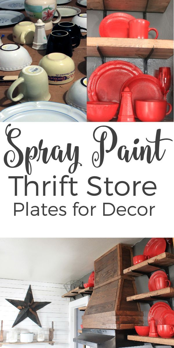 Spray Paint Plates For Kitchen Decor Diy Projects Pinterest