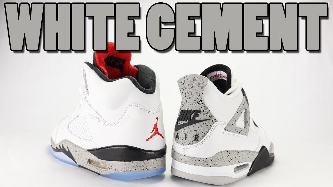 24f7d922de4 White Cement Air Jordan 5 vs Air Jordan 4 Comparison   Sneakers ...