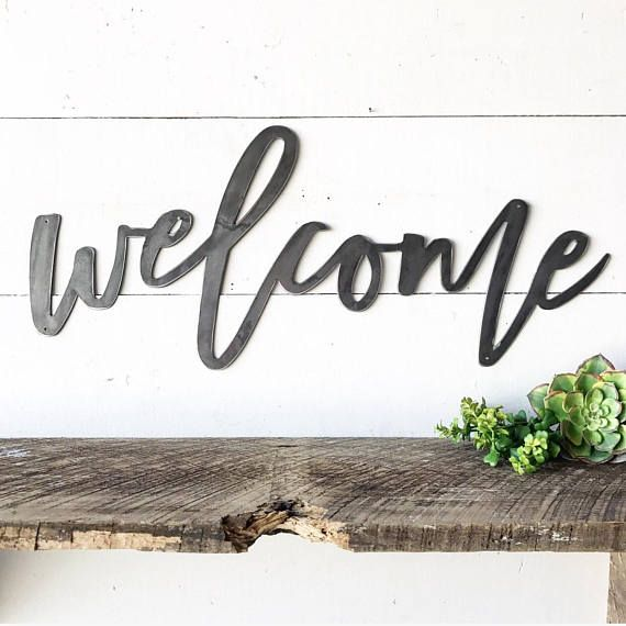Welcome Metal Sign Wall Art