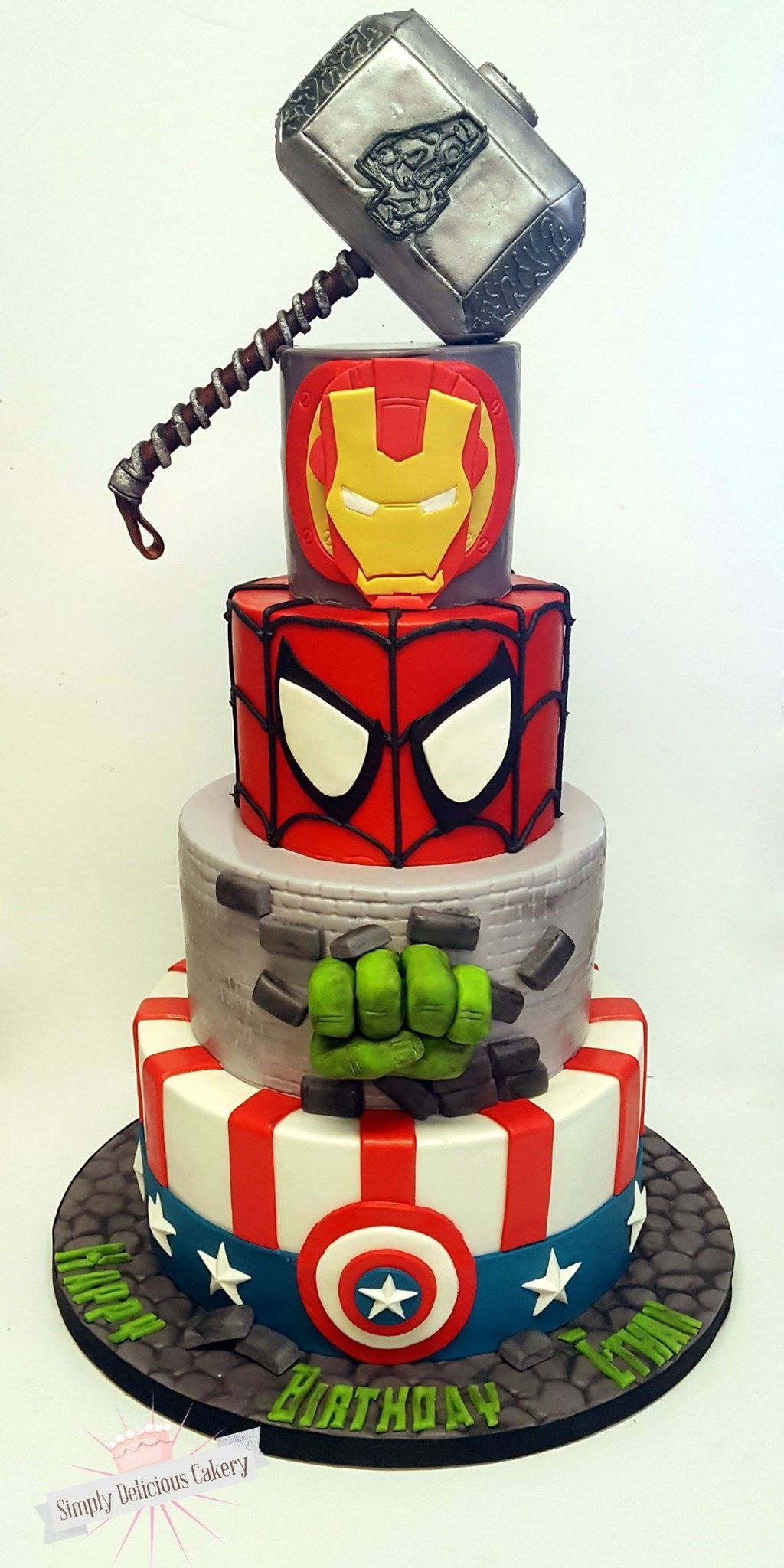 Fine Pin By Sheryl Segal On Super Hero Cakes With Images Marvel Funny Birthday Cards Online Alyptdamsfinfo
