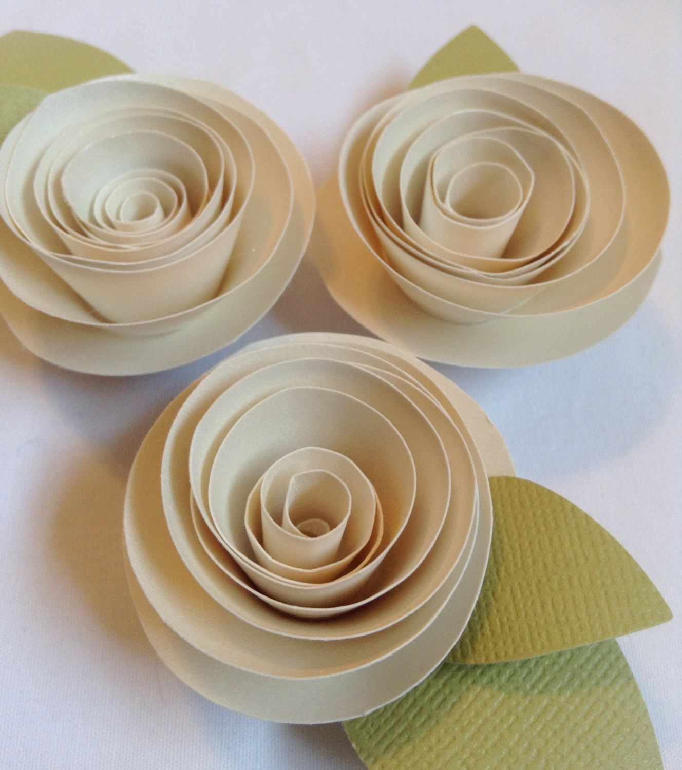 Flower Magnet Paper Flower Wedding Favor Place Cards Escort