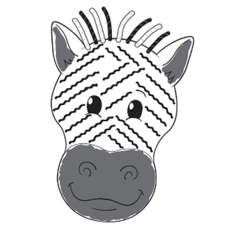 White Construction Paper Copy Of The Zebra Head Pattern Pieces Of