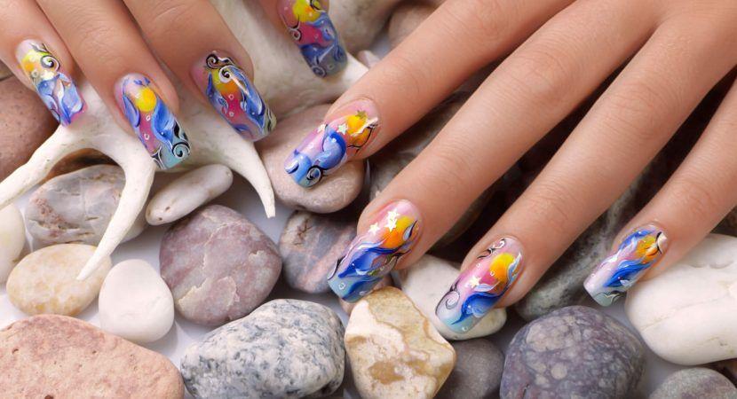 Diseños de uñas acrilicas http://blgs.co/8Z0x2N | Imagenes | Pinterest