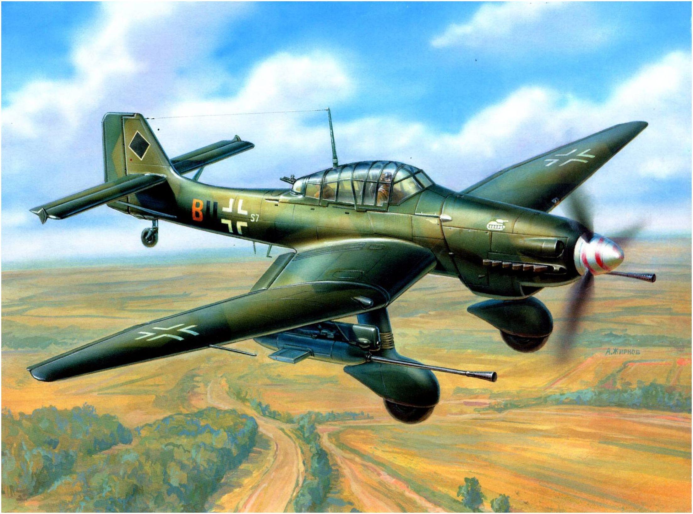 Junkers Ju-87G-1, Stuka «Tank Buster» o conocido tambien como el el «Stuka cañón»