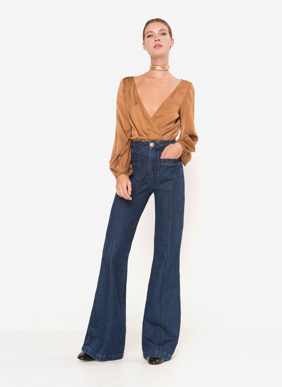 07c19386e19 Jeans rectos índigo   My Style   Jeans, Flare jeans, Fashion