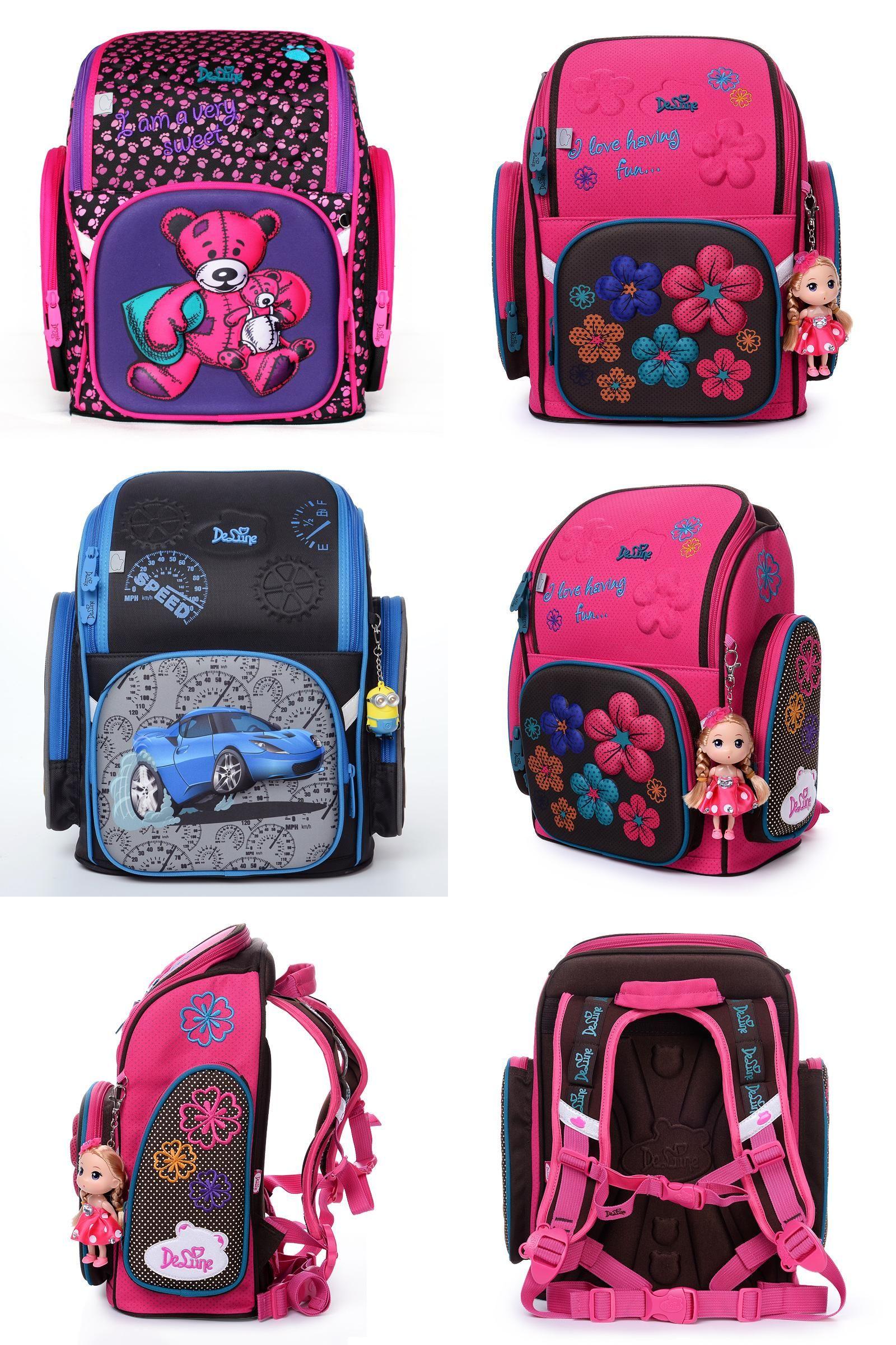 [Visit to Buy] 2017 Factory delune brand kids school bag