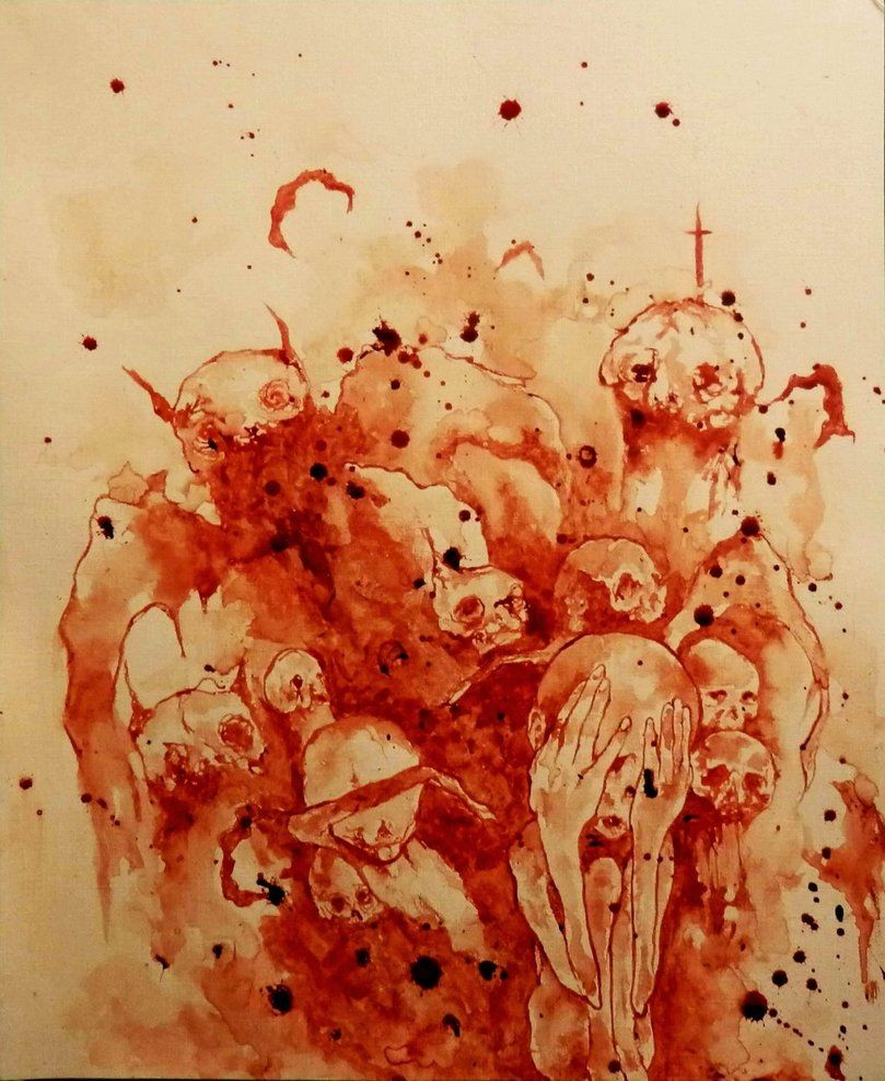 Картинки крови нарисованные
