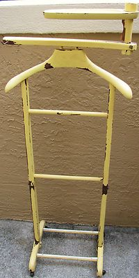 Vintage Shabby Painted Chic Valet Stand Butler Mens Clothing Holder  Organizer