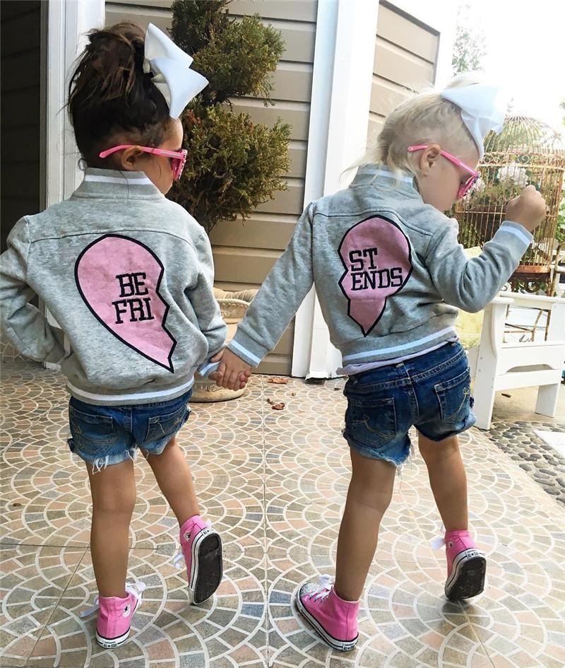 5ebf273fe Best Friend's Letterman Jackets | Want | Girl outfits, Kids tops ...