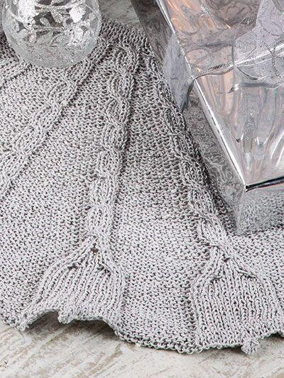 Silver Bells Tree Skirt Knit Pattern Holiday Knitting