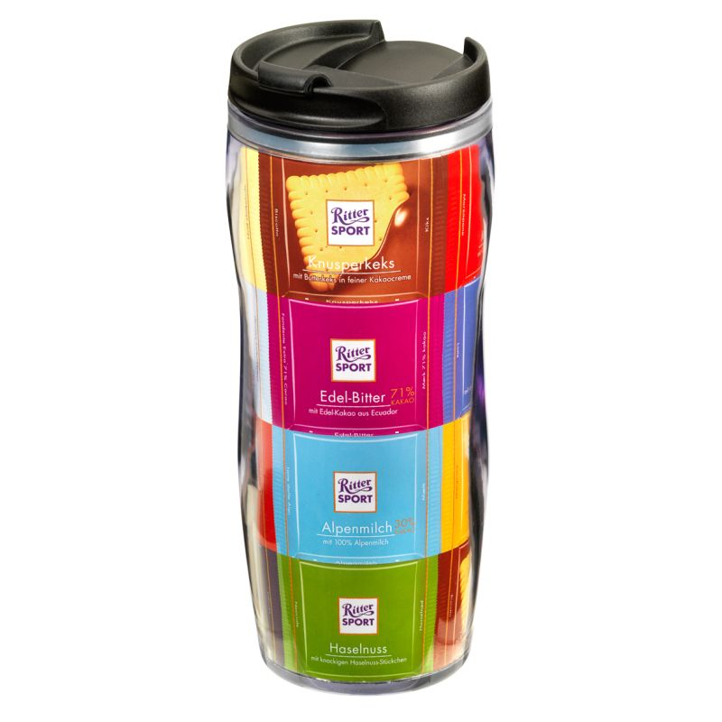 ritter sport thermobecher worldwide partners sports coffee to go favorite candy. Black Bedroom Furniture Sets. Home Design Ideas