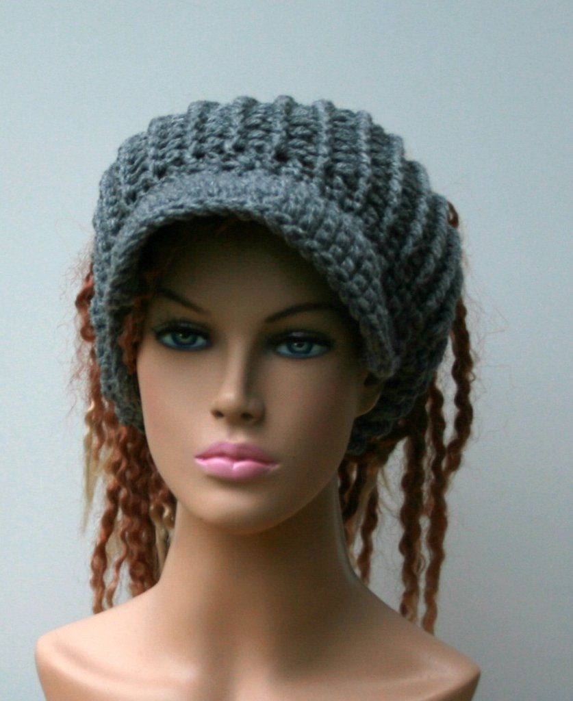 867fea8a Pick your Color (!!!) Custom Visor Tam Hat Hippie Newsboy Slouchy Hat  handmade in crochetCustom made tams for men and women in the color of your  choice, ...
