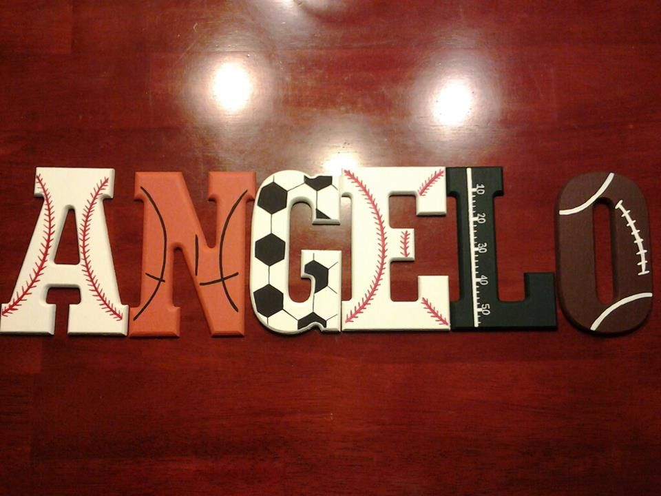Boys Sports Theme Wooden Letters For My Son's Room