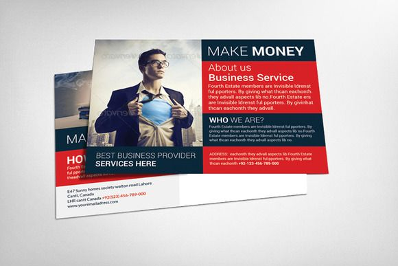Check out Business Postcard Template by Corporate Flyers Postcard - postcard format template