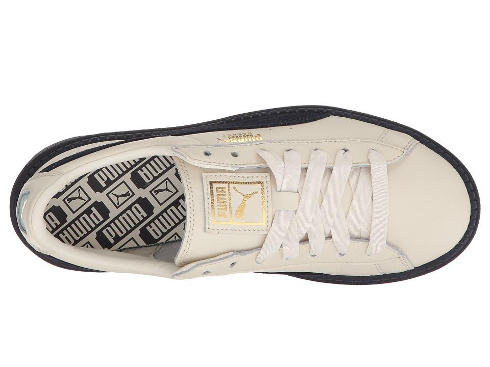 PUMA Basket Platform Trace Block Women s Shoes Vanilla Ice Night Sky Night  Sky 859dc5ab3