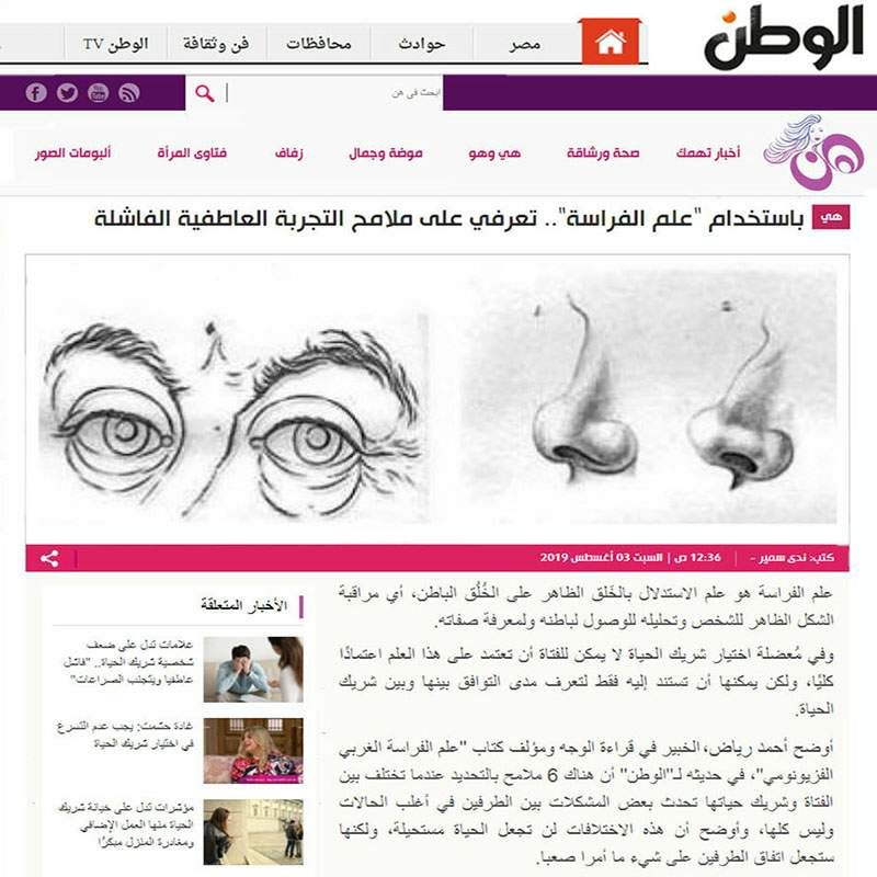 مدونة أسرار الوجه علوم الفراسة الحديثة و قراءة الوجه Pandora Screenshot
