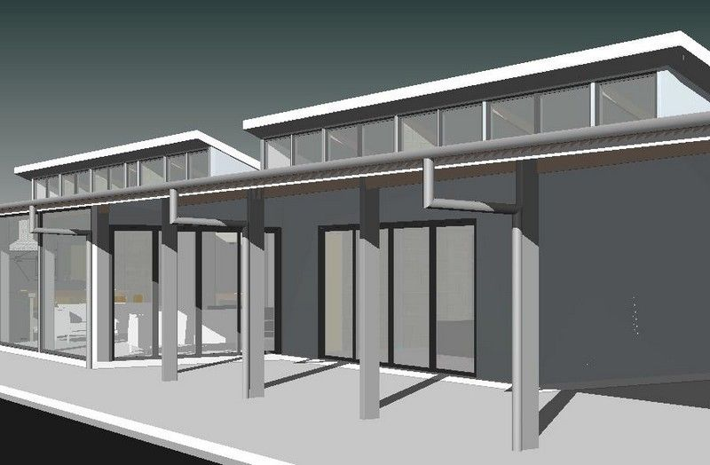 Solar passive skillion roof cad drawing houses for Window roof design