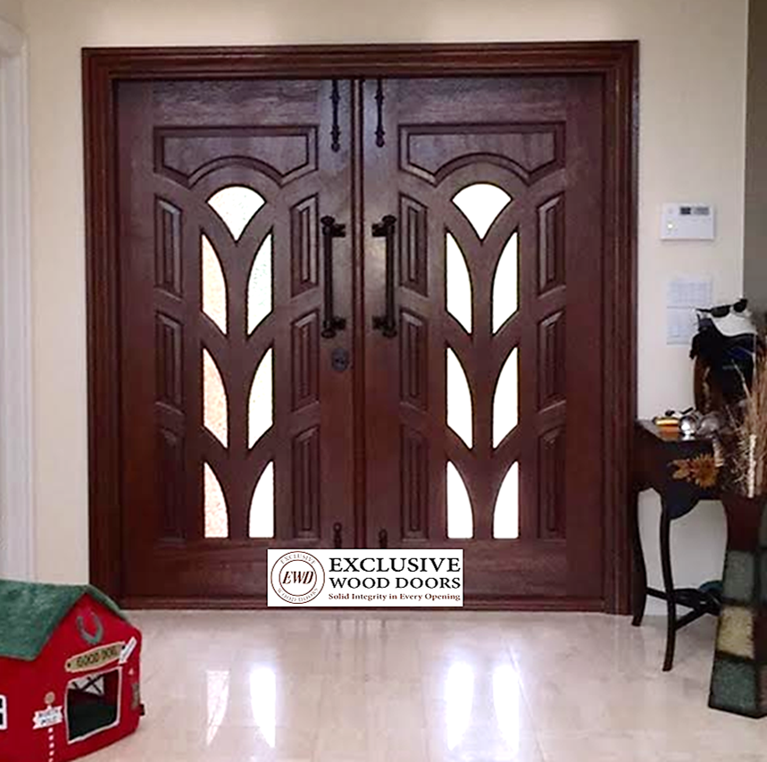 Thank You To Our Retailer For Providing Us This Picture Of A Custom Door Unit We Manufactured For Their Client Custom Wood Doors Solid Wood Doors Wood Doors