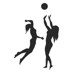 Female Volleyball Players Silhouette In 2020 Female Volleyball Players Volleyball Volleyball Players