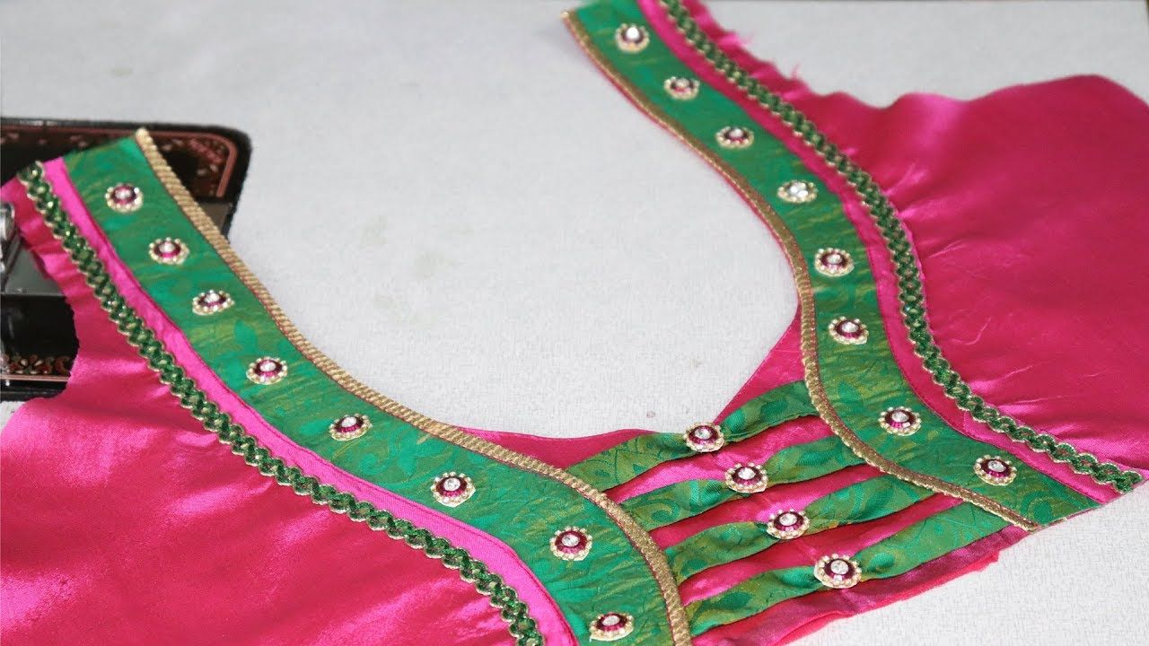 Saree blouse design cutting and stitching paithani saree blouse neck design cutting and stitching at home