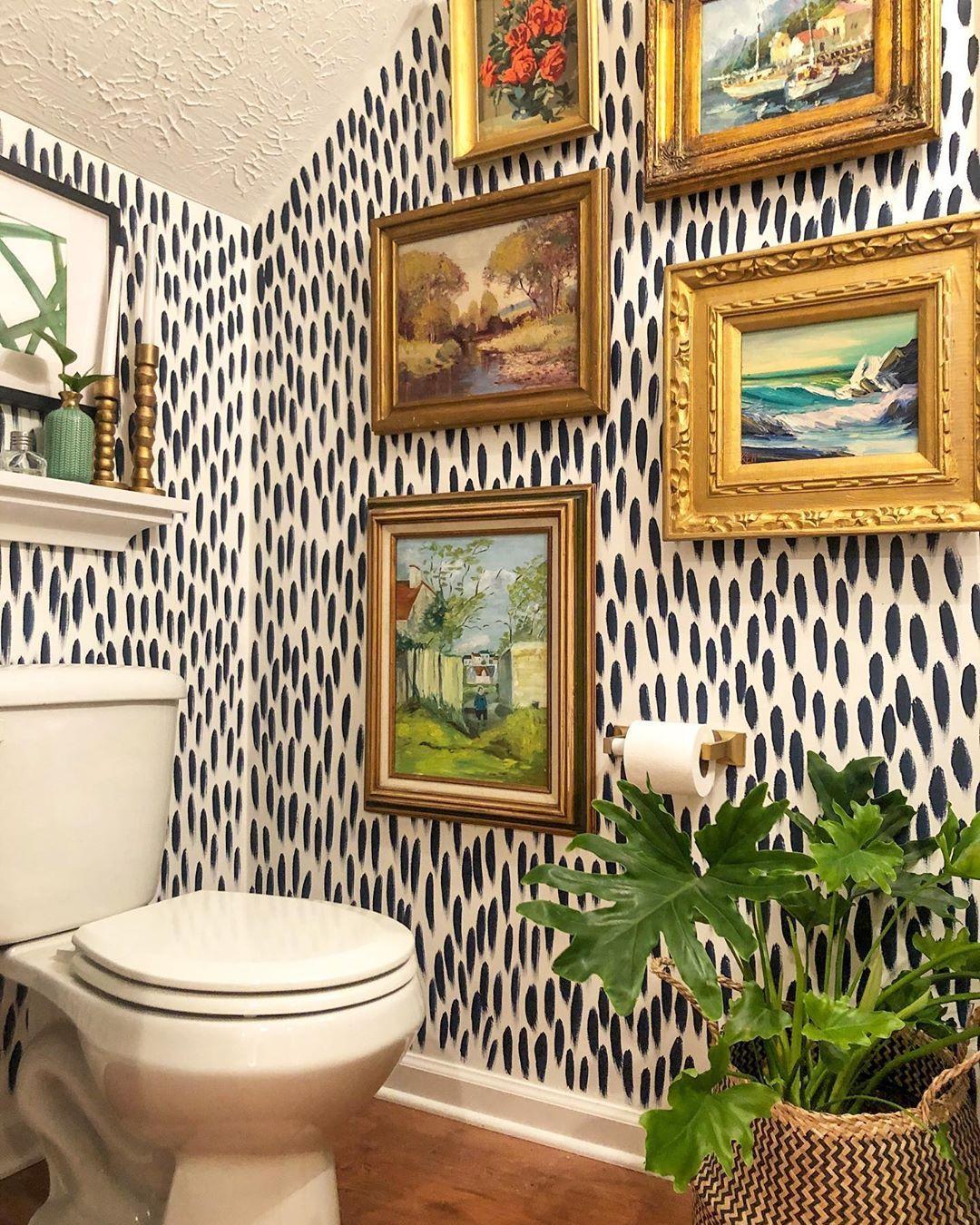 22 Of The Most Gorgeous Half Bath Ideas We Ve Ever Seen Powder Room Decor Half Bathroom Decor Powder Room Small Folk art bathroom decor