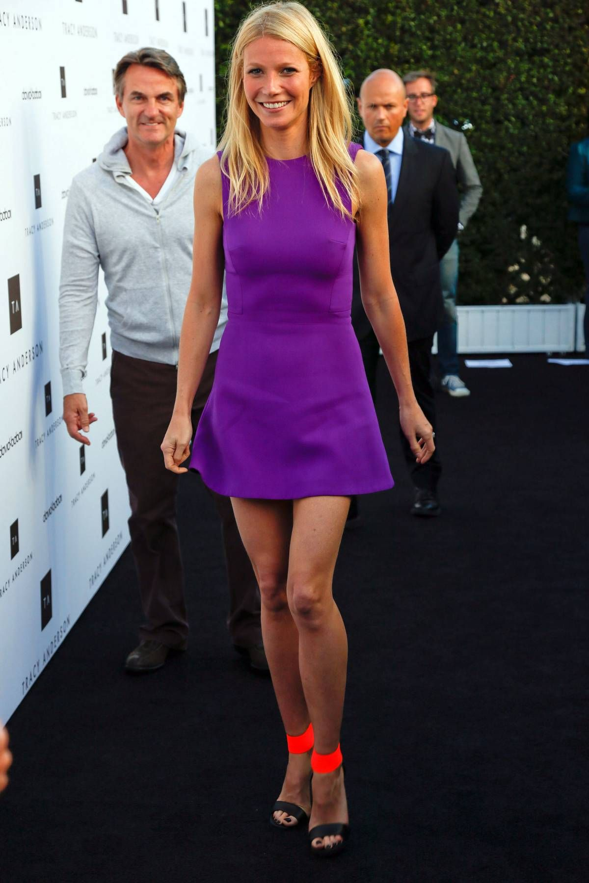 Dress by Victoria Beckham; shoes by Michael Kors. #gwyneth