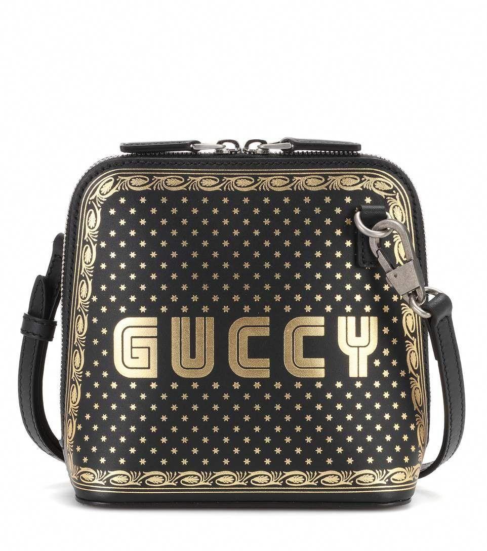 5361c02e32d Gucci Gold Guccy Print Mini Shoulder Bag