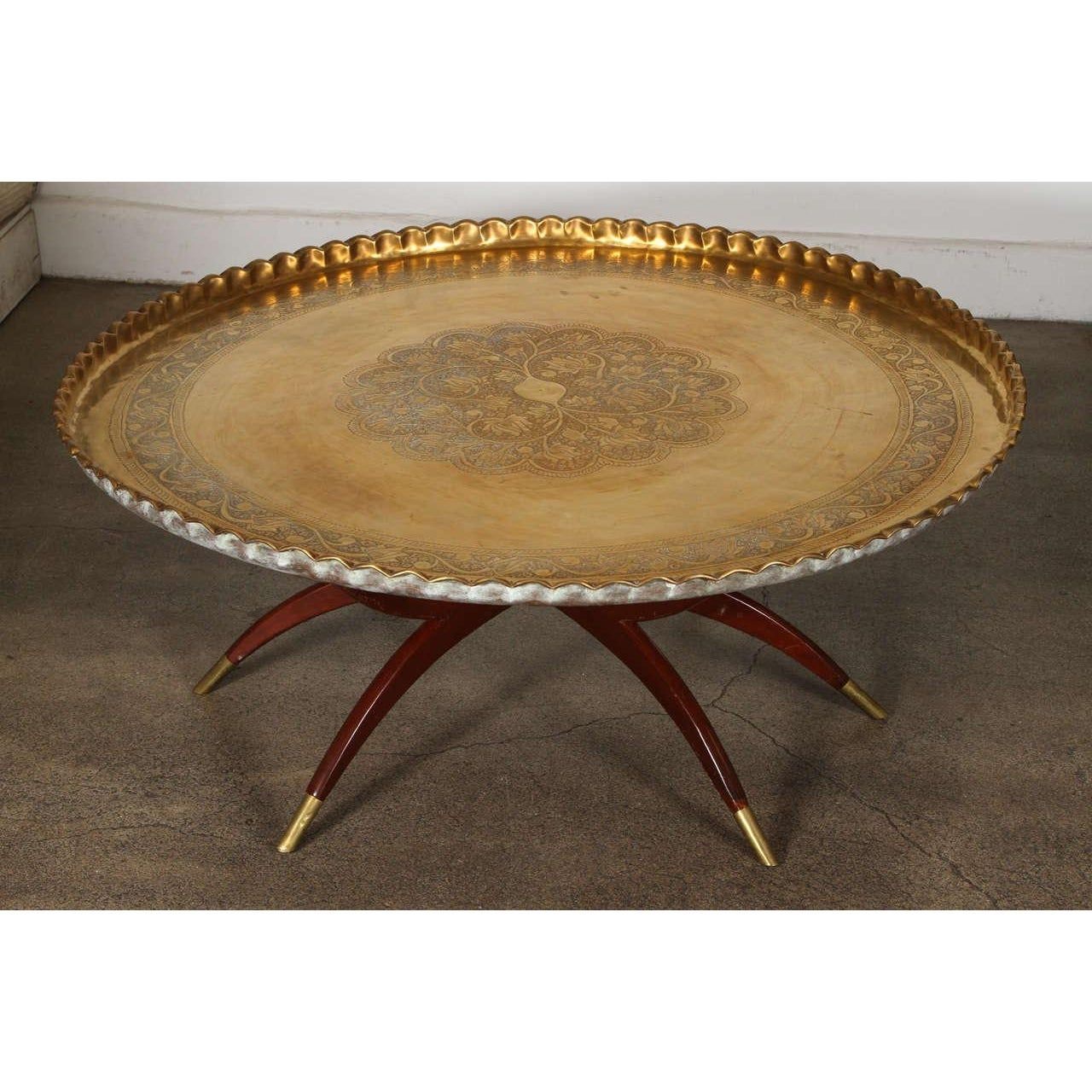 Exquisite Large Moroccan Round Brass Tray Table On Folding Stand Decaso Brass Tray Table Brass Round Table Brass Tray [ 1280 x 1280 Pixel ]