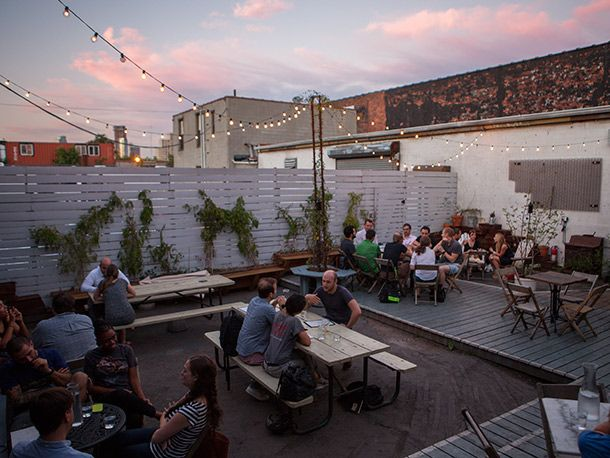 Cocktails And Cuisine In Sight Of The Gowanus Canal At Lavender Lake Lake Rooftop Restaurant Places