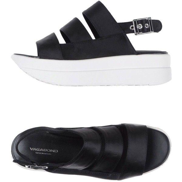 Vagabond Sandals ($105) ❤ liked on Polyvore featuring shoes, sandals, black, black flatforms, black buckle sandals, flatform sandals, black shoes and rubber sole shoes