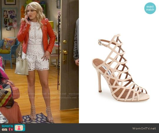 91938b8858b8 Gabi s nude sandals on Young and Hungry. Outfit Details  https   wornontv