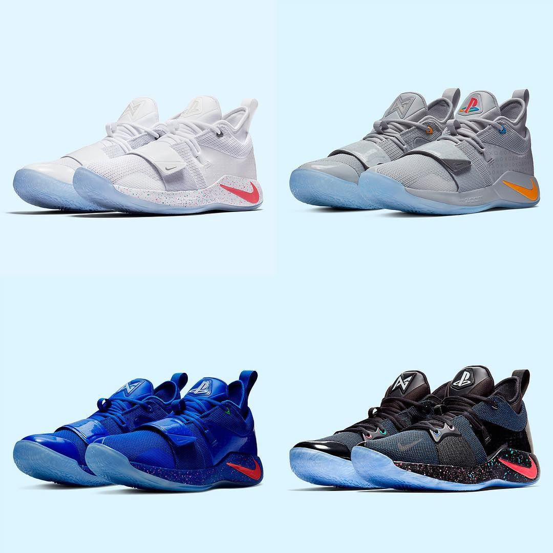 "1edde83d6abc01 Sneaker News on Instagram  ""The fourth and final Nike PG 2.5 ""PlayStation""  is coming your way soon. Who owns all four consoles  For a closer look"
