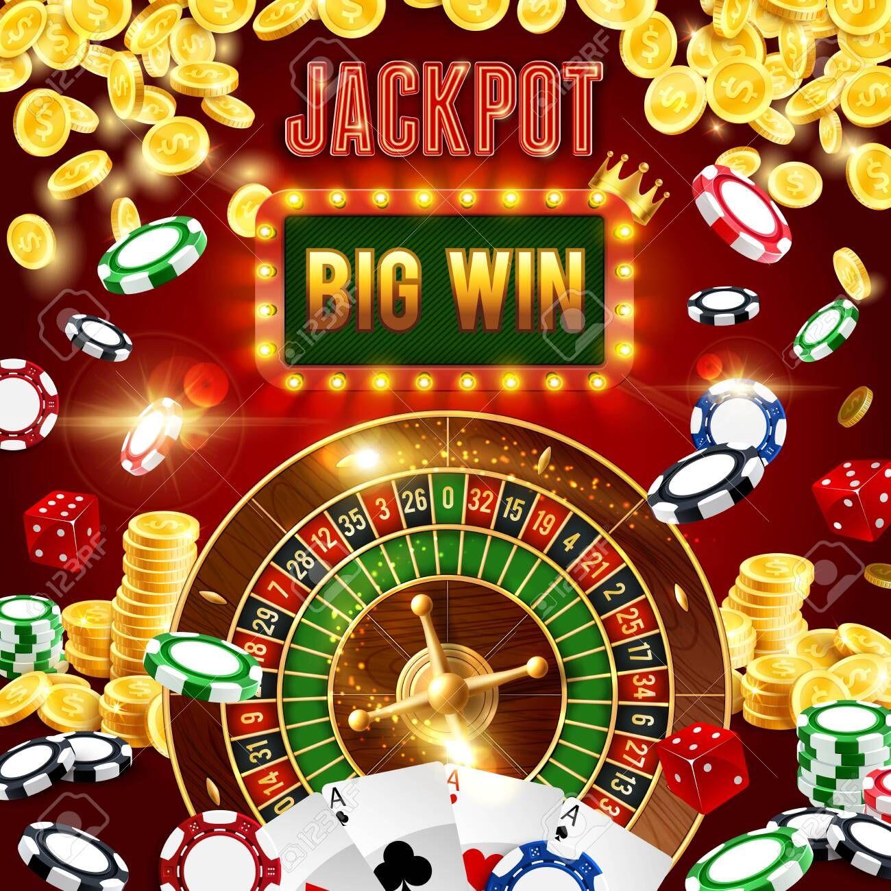 Wheel Of Fortune Jackpot Big Win Casino Poker Club Cash Golden