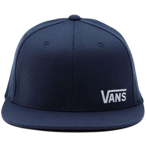 Vans Splitz Flex Fit Hat (17.490 CLP) ❤ liked on Polyvore featuring men's fashion, men's accessories, men's hats and blue