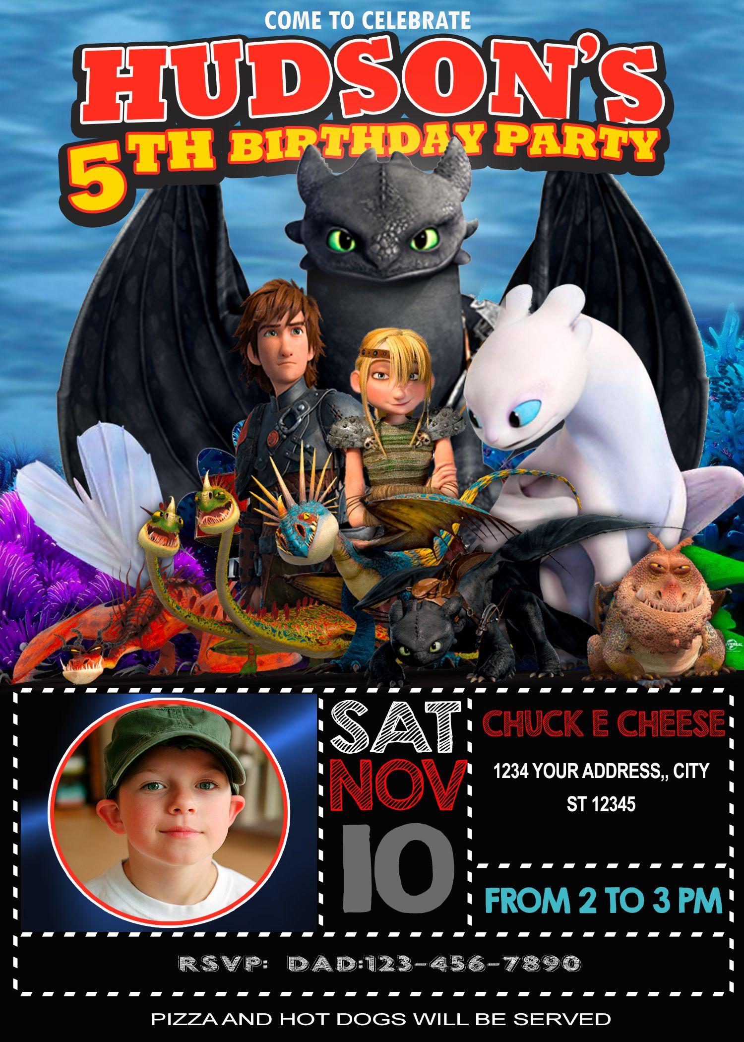 How To Train Your Dragon Birthday Invitation In 2021 Dragon Birthday Invitations Dragon Birthday Dragon Birthday Parties