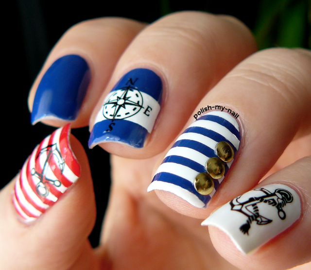 15 Fashionable Nail Designs with Anchor Patterns for Summer ...