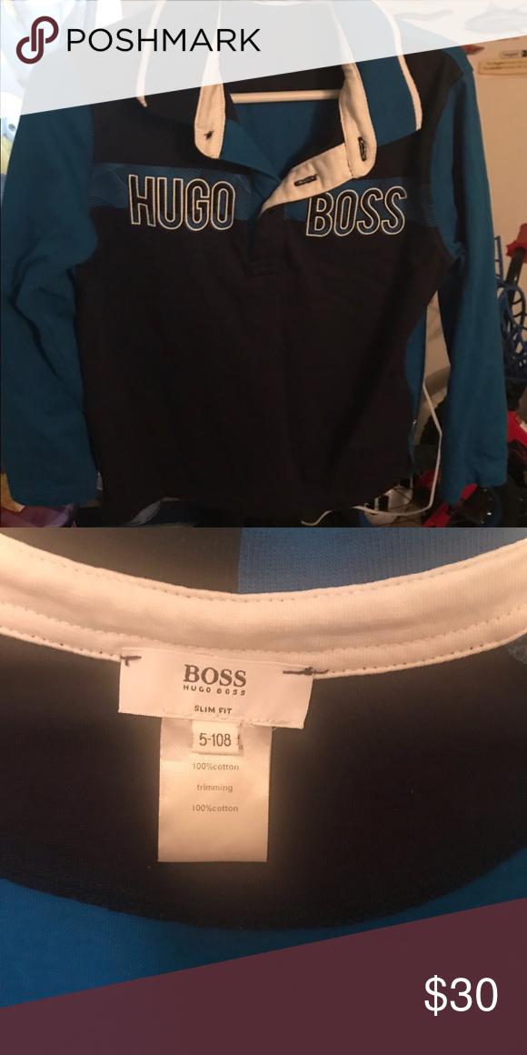 673eb2071 Kids Hugo Boss Kids Hugo Boss long sleeve Hugo Boss Shirts & Tops Tees -  Long Sleeve